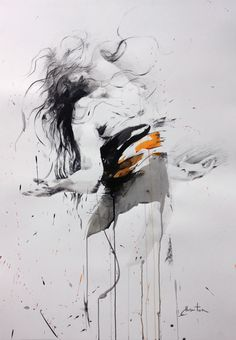 ewa hauton 100x70cm #ink on paper # danse
