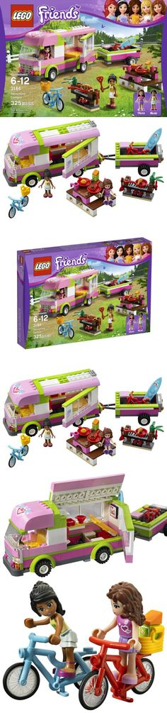 LEGO Friends 3184 Adventure Camper - With the LEGO Friends Adventure Camper, kids can build a camper, trailer, picnic table, and campfire and make up stories with the two included LEGO Friends mini-dolls. Olivia and Nicole can ride the t... - Building Sets - Toys$19.99