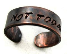 Game Of Thrones Gifts, Game Of Thrones Fans, Game Of Thrones Tattoo, Shoe Tattoos, Ring Game, All The Small Things, Nerd Fashion, Copper Rings, Geek Chic