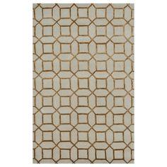 Beautiful Indigo Cream Gold rug