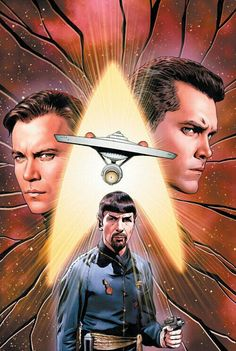 Star Trek: The Mirror Universe. Captain Pike was assassinated by James T. Kirk who then rose up to command the U. Star Trek 1966, New Star Trek, Star Wars, Star Trek Tos, Star Trek Original Series, Star Trek Series, Star Trek Poster, Mirror Universe, United Federation Of Planets