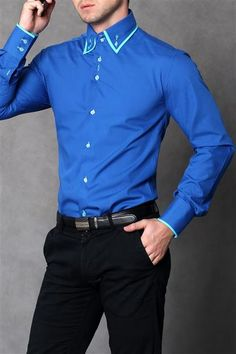 Tričko pánske Slim Fit - modrá  Elegantné pánske tričko. Zapol. Na dlhým rukávom. Vyrobené z veľmi dobrej žánru materiálu.  Modrá farba Materiál: 66% bavlna, 35% polyester http://www.cosmopolitus.com/41122-koszula-meska-slim-niebieski-p-109648.html?language=sk&pID=109648 #BAVLNA #elegantne #panske #kosele #golier #rozhodujuca