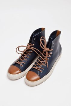 The Best Men's Shoes And Footwear : Buttero – Tanino High Leather Navy - #Men'sshoes