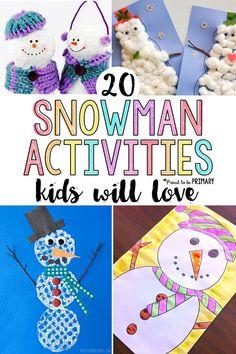 20 snowman activitie