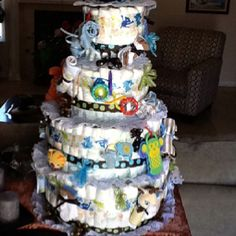 Julianna's diapper cake