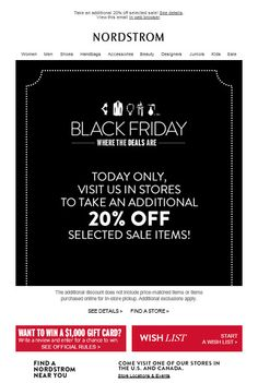 Black Friday Email