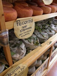 Pecorino from Pienza, very close to La Selva Vacation Villas.  We can arrange a cheese tasting outing.  What fun, and of course wine does go with it!