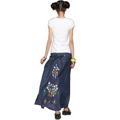 #Swanmarks Liebo New 2012 Summer Embroidery Jean Skirt