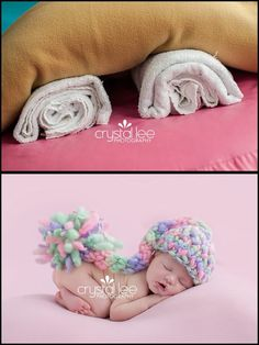 Inspiration For New Born Baby Photography : don't need overpriced posing pillows- just use rolled up towels underneath few l. Inspiration For New Born Baby Photography : dont need overpriced posing pillows- just use rolled up towels underneath fe. Foto Newborn, Newborn Baby Photos, Baby Poses, Newborn Posing, Newborn Shoot, Newborn Baby Photography, Children Photography, Newborn Photo Props, Newborn Pictures Diy