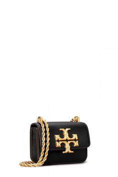 Tory Burch Damen Umhängetasche Eleanor Mini Crossbody Schwarz | SAILERstyle Tory Burch, Mini, Cufflinks, Accessories, Fashion, Bags, Shoulder, Necklaces, Leather