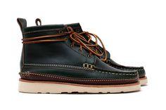 "Yuketen ""Loden Green"" Maine Guide 5 Eye Boot"