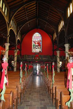 Rutgers chapels | Kirkpatrick Chapel, Rutgers | Yes, the inside is blood red and they used to show Nosferatu here on Halloween.