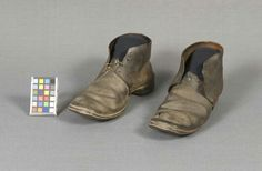 Pair of leather Civil War shoes found at Gettysburg. (Gettysburg National Military Park)