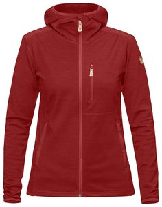 Komfortabel jakke i strikket fleece med vanntett glidelås