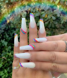 In seek out some nail styles and ideas for your nails? Here is our list of must-try coffin acrylic nails for cool women. Rave Nails, Aycrlic Nails, Swag Nails, Manicure, Coffin Nails, Teen Nails, Cow Nails, Stiletto Nails, Summer Acrylic Nails