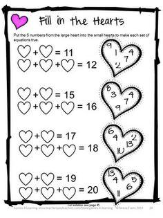 FREEBIE Valentine Seasonal Math Printables Color By The Code