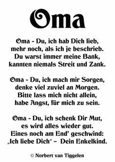 Gedichte fur seine oma