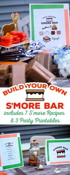 No birthday party summer gathering or fall festivity is complete without a Make Your Own S'mores Bar! It is the perfect quick easy and affordable alternative to an Shared Birthday Parties, Birthday Fun, Birthday Wishes, Preschool Birthday, Themed Parties, Cake Birthday, Birthday Ideas, Party Desserts, Party Cakes