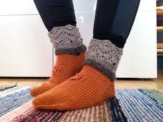 Knitted socks.