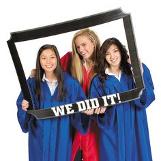 Photo booth frame graduation crafts by claudia pinterest grad oversized cutout frame oriental trading should have gotten for you brooke graduation open housesgraduation partiesgraduation ideasphoto booth solutioingenieria Choice Image