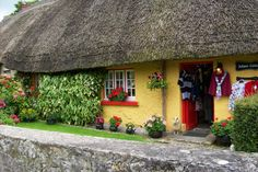 Adare Cottage, Adare, County Limerick, Ireland. A lovely little gift shop. The village of Adare is almost unreal - it is so lovely and charming!