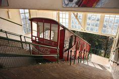 Funicular del Monte Igeldo. San Sebastian - Donostia.  Inaki Caperochipi Photography Centenario, Basque Country, Spain And Portugal, Travelogue, Bilbao, Tourism, Art Deco, Stairs, World