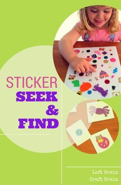 DIY Sticker Seek and Find Game - Left Brain Craft Brain