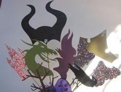 Maleficent Castle Dragon Tiara Horns Aurora Crown Crow Centerpiece Party Decor