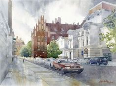 Torun   Fosa Staromiejska by GreeGW - Watercolor paintings by Grzegorz Wróbel  <3 <3