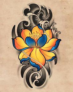Japan Tattoo Design, Lotus Flower Tattoo Design, Lotus Tattoo Design, Tattoo Design Drawings, Floral Tattoo Design, Japanese Peony Tattoo, Japanese Dragon Tattoos, Japanese Tattoo Designs, Japanese Sleeve Tattoos
