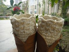 Womens jambières fait main Crochet Boot Sock par Tinacrochetstudio, $15.00