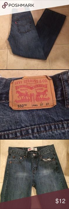 $9 Levi's relaxed for jeans 27x27 Excellent condition! 14 reg. Levi's Bottoms Jeans