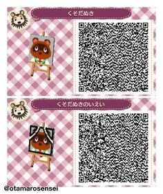 Animal Crossing New Leaf QR Codes - Tom Nook Portrait Patterns