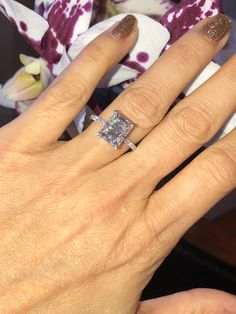 A personal favorite from my Etsy shop https://www.etsy.com/listing/607179635/moissanite-engagement-ring-390ct