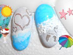 Nail art tutorial EFFETTO SPIAGGIA / NAIL ART BEACH DESIGN