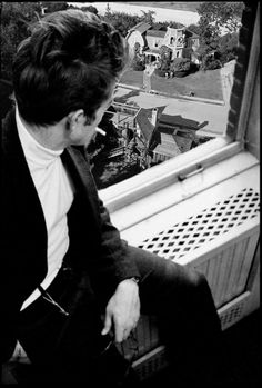James Dean the Giant gazing out the window at 1313 Mockingbird Lane