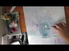 Нарисовать стеклянную вазу мастихином  Самый простой способ - YouTube