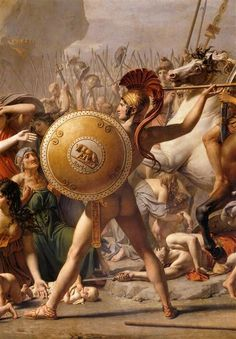 Detail from Les Sabines. 1799. by Jacques Louis David (1748-1825)