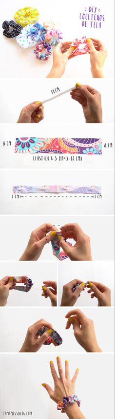 20 pcs of Assorted Colors Ribbon Bow DIY Annielov ribbonbow pony tail holders scrunchies hair ties headband hair accessories Diy Hair Scrunchies, Sewing Crafts, Sewing Projects, Diy Step By Step, Diy Couture, Diy Hair Accessories, Diy Hairstyles, Diy Clothes, Girly Things