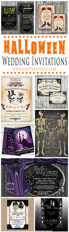 Halloween Wedding Invitations if I were to do it all again! Boudoirgirls.net
