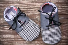 Baby boy shoes, grey oxfords sneakers, booties,  infant slippers