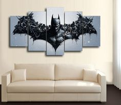 HD Printed Movie Characters Batman 5 Piece Canvas
