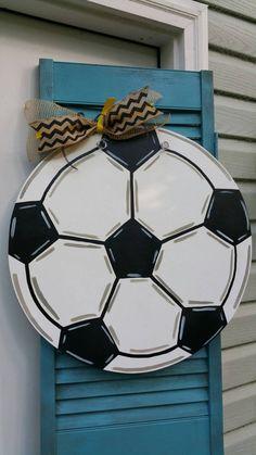 Soccer Wooden Door Hanger by MBPandMore on Etsy