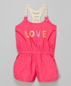 Pink House Pink 'Love' Romper - Infant, Toddler & Girls by Pink House #zulily #zulilyfinds