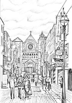 St Anne's Church St Anne, Irish Art, Art For Sale, Dublin, Taj Mahal, How To Draw Hands, Drawings, Prints, Painting
