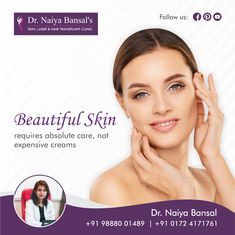 Take of your skin on daily basis to get a healthy and perfect radiant Avoid using filled creams and instead prefer the fair advice of a skin care expert. Contact us at: 98880 01489 Co2 Laser Resurfacing, Skin Specialist Doctor, Permanent Laser Hair Removal, Laser Tattoo, Skin Clinic, Dermal Fillers, Sagging Skin, Radiant Skin