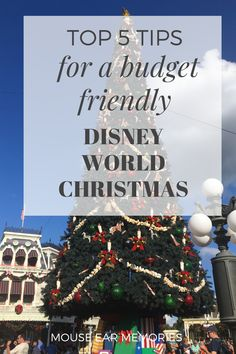Come celebrate the most magical time of year at Disney World and make the most of your trip with these budget recommendations. #disneyworld #christmas