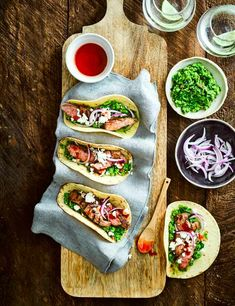 Lamb Tacos Recipe with Minted Pea Guacamole  Check out these quick and easy lamb tacos. This vibrant Mexican recipe makes a fun midweek meal to get stuck into