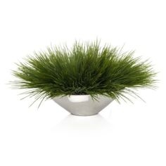 Grass In Silver Pot from Z Gallerie