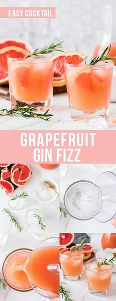 Grapefruit Gin Fizz Cocktail is a fresh and delicious twist on a classic gin fizz. This easy grapefruit cocktail is made with only a few ingredients including gin and grapefruit juice. Recipes With Fruit Cocktail, Cocktails Made With Gin, Easy Cocktails, Grapefruit Cocktail, Cocktail And Mocktail, Grapefruit Juice, Drink Recipes Nonalcoholic, Drinks Alcohol Recipes, Gin Martini Recipe